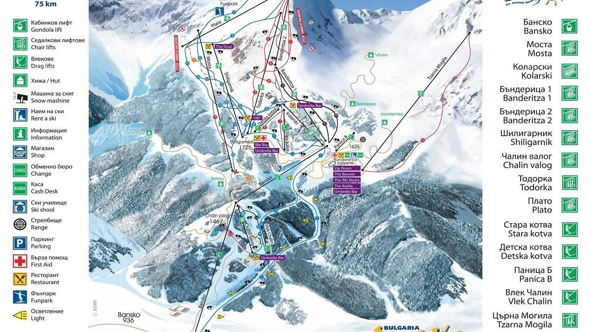 BanskoMap - Лыжний тур в Банско