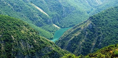Matka canyon mountains Macedonia eastern Europe landscape - Загадочные Балканы: Белград,Скопье